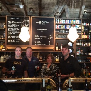 L-R: Will Tatchell (Van Dieman Brewing), Michael Briggs (Iron House Brewery), Denita Wawn (CEO Brewers Association) & Dave McGill (Moo Brew)